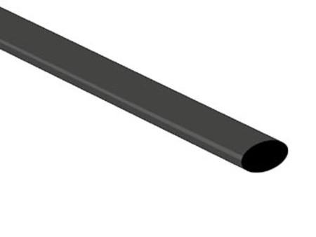 GAINE THERMORETRACTABLE 2:1 - 6.4mm - NOIR - 1m